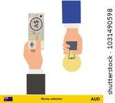 hand giving  australian dollar...   Shutterstock .eps vector #1031490598