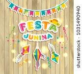 festa junina logotype with... | Shutterstock .eps vector #1031490940