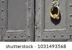 ancient golden handle knob on... | Shutterstock . vector #1031493568