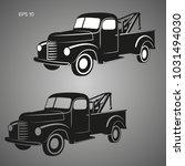 old vintage tow truck vector...   Shutterstock .eps vector #1031494030