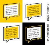 vectors quote.  it does not...   Shutterstock .eps vector #1031495848