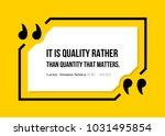 vectors quote.  it is quality...   Shutterstock .eps vector #1031495854