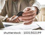focus of senior businessman...   Shutterstock . vector #1031502199