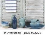 simple rustic kitchen still... | Shutterstock . vector #1031502229