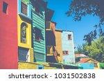 colorful area in la boca... | Shutterstock . vector #1031502838
