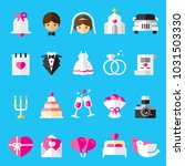 wedding flat icons | Shutterstock .eps vector #1031503330