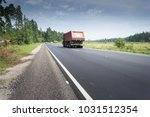 truck transportation on the... | Shutterstock . vector #1031512354