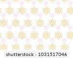 thai flower art seamless... | Shutterstock .eps vector #1031517046