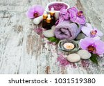 spa and massage products with... | Shutterstock . vector #1031519380