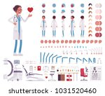 female doctor  clinic uniform... | Shutterstock .eps vector #1031520460