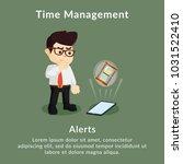 time management alerts... | Shutterstock .eps vector #1031522410