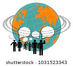 computer graphic of social... | Shutterstock .eps vector #1031523343