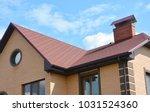 asphalt shingles house roofing... | Shutterstock . vector #1031524360