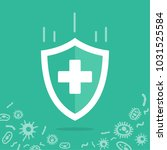 reliable protection from germs. ... | Shutterstock .eps vector #1031525584