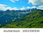 austrian alps view on the... | Shutterstock . vector #1031530534