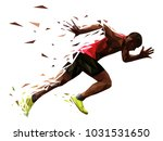 runner athlete sprint start... | Shutterstock .eps vector #1031531650