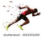 runner athlete sprint start... | Shutterstock .eps vector #1031531650