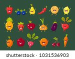 fruits  berries and vegetables... | Shutterstock .eps vector #1031536903