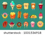funny fast food comic... | Shutterstock .eps vector #1031536918