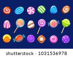 candies sett  glossy sweets of... | Shutterstock .eps vector #1031536978