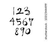 vector fonts   handwritten... | Shutterstock .eps vector #1031544499