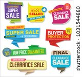 sale stickers and tags colorful ... | Shutterstock .eps vector #1031544880