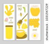 honey and ginger design concept ... | Shutterstock .eps vector #1031547229