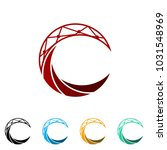 abstract c initial and dna logo ... | Shutterstock .eps vector #1031548969