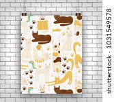 cats vector poster concept ... | Shutterstock .eps vector #1031549578
