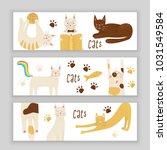 cats vector banner concept ... | Shutterstock .eps vector #1031549584