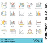data analytics color line icons.... | Shutterstock .eps vector #1031550106