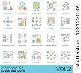 data analytics color line icons.... | Shutterstock .eps vector #1031550139