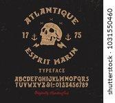 original handmade alphabet.... | Shutterstock .eps vector #1031550460