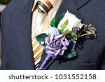 festive flower decoration for a ... | Shutterstock . vector #1031552158