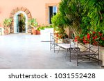 cosy outdoor cafe in positano ... | Shutterstock . vector #1031552428