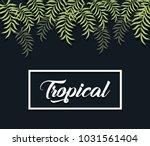 trendy summer tropical leaves...   Shutterstock .eps vector #1031561404