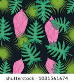 seamless pattern tropical...   Shutterstock .eps vector #1031561674