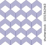 blue geometric seamless pattern | Shutterstock .eps vector #1031562463