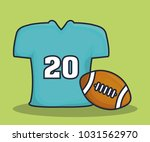 american football equipment | Shutterstock .eps vector #1031562970