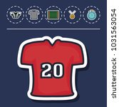 american football equipment | Shutterstock .eps vector #1031563054