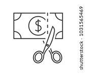 scissors cutting money icon | Shutterstock .eps vector #1031565469