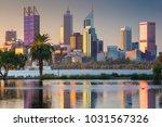 perth. cityscape image of perth ... | Shutterstock . vector #1031567326
