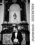 black and white. wedding... | Shutterstock . vector #1031567854