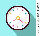 clock icon. vector flat design... | Shutterstock .eps vector #1031568058