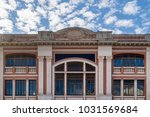 teatro eden is a theater in... | Shutterstock . vector #1031569684