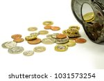 british currency coins open... | Shutterstock . vector #1031573254