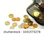 top view and crop of british... | Shutterstock . vector #1031573278