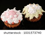 two home made baked cupcakes... | Shutterstock . vector #1031573740