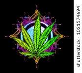 cannabis leaf  marijuana  herb  ...   Shutterstock .eps vector #1031574694
