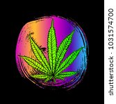 cannabis leaf  marijuana  herb  ...   Shutterstock .eps vector #1031574700
